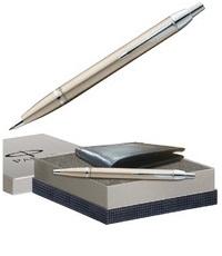 Parker IM Brushed Metal CT BP Pen Gift Set