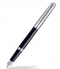 Waterman Hemisphere Dlx Black CT FP Pen