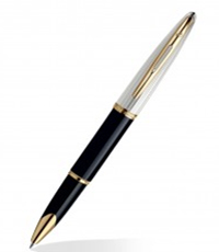 Waterman Carene Dlx Blk GT RB Pen