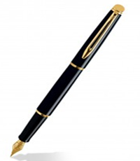 Waterman Hemisphere Mars Black GT FP Pen
