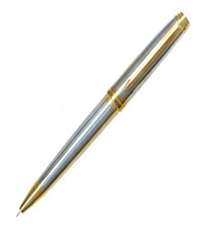 Parker Ambient Shiny CHROME Chiselled GT BP Pen