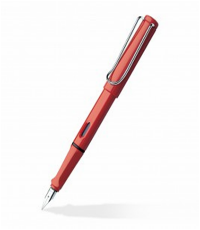 SAFARI RED FINE FOUNTAIN PEN