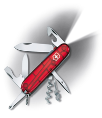 victorinox spartan lite red led knife