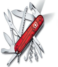 victorinox huntsman lite red led knife