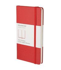 moleskine pocket red plain