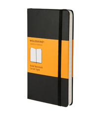 moleskine pocket black hard cover