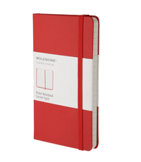 moleskine notebook red hard cover