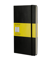 moleskine notebook black hard cover