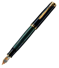 pelikan black green m800 pen