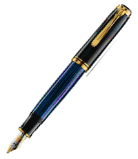 pelikan black blue m800 pen