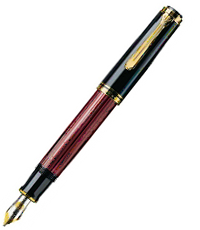 pelikan black red m800 pen