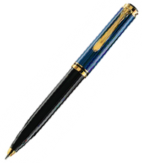 pelikan black blue k800 ball pen