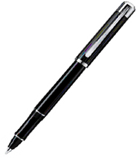 pelikan black silver r3100 ball pen