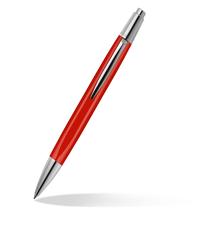 caran dache alchemix red ballpoint pen
