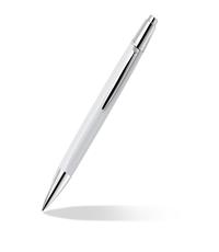 caran dache alchemix white ballpoint pen