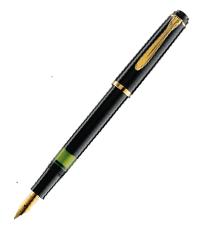 pelikan black m150  fountain pen
