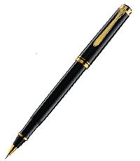 pelikan souveran black r400 ball pen